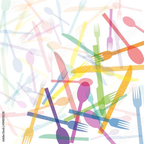 Vector restaurant, tableware. Background