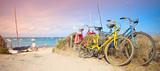 France > Bretagne > Plage > Vélo en bord de mer