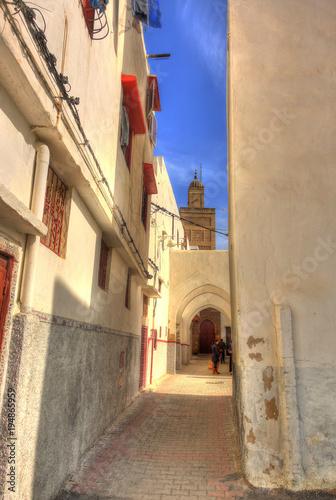 Aluminium Smalle straatjes Rabat, Morocco