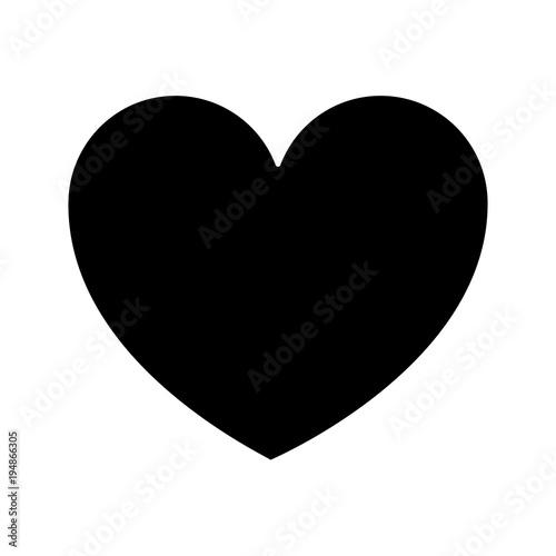 heart love health care medical symbol vector illustration black and white design