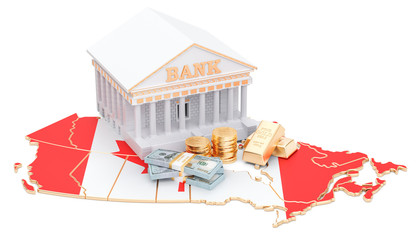 Banking system in Canada concept. 3D rendering
