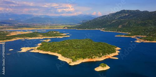 Foto op Aluminium Nachtblauw Slansko lake landscape, Niksic, at the foot of Mount Trebjesa, Montenegro