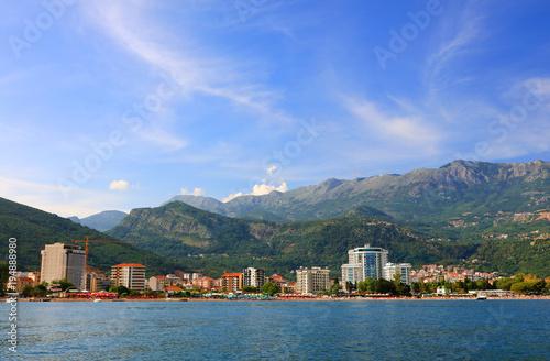 Foto op Plexiglas Groen blauw Adriatic Sea coast at Budva, Montenegro, Europe