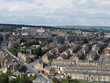 panoramic view of Halifax in west yorkshire with rows of terraced streets buildings roads and surrounding countryside