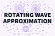 Conceptual business illustration with the words rotating wave approximation