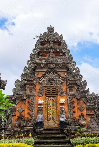 Aluminium Bali Pura Taman Saraswati Temple in Ubud, Bali