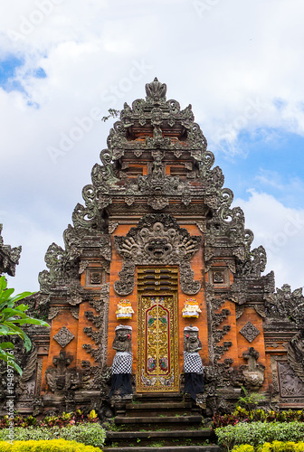 Plexiglas Bali Pura Taman Saraswati Temple in Ubud, Bali