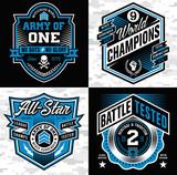 Sports crest emblem set