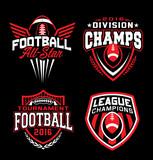 Football sport graphic emblem set - 194906981