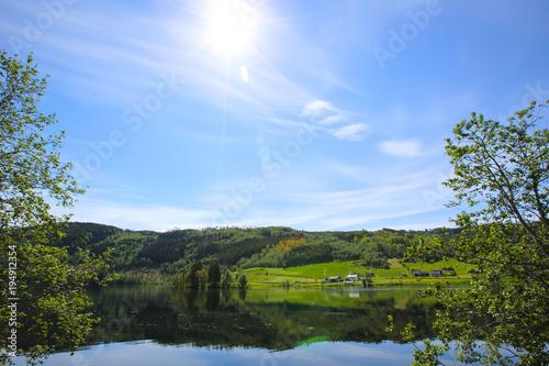 Foto op Canvas Natuur Lake landscape in Norway