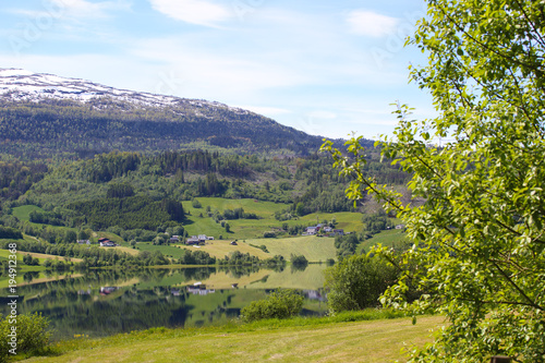 Aluminium Zomer Lake landscape in Norway