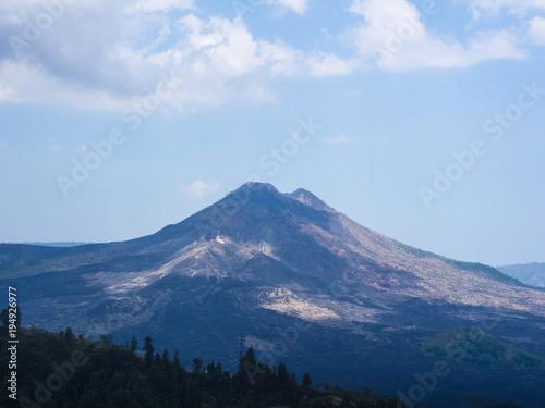 Aluminium Bali Bali volcano, Agung mountain from Kintamani in Bali