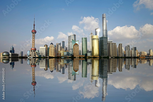 Foto op Plexiglas Shanghai The Oriental pearl tower, Shanghai world financial center jinmao
