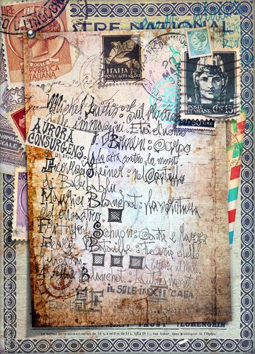 In de dag Imagination Disegni e manoscritti alchemici e esoterici con collage,formule e tarocchi