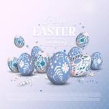 Stylish Easter background