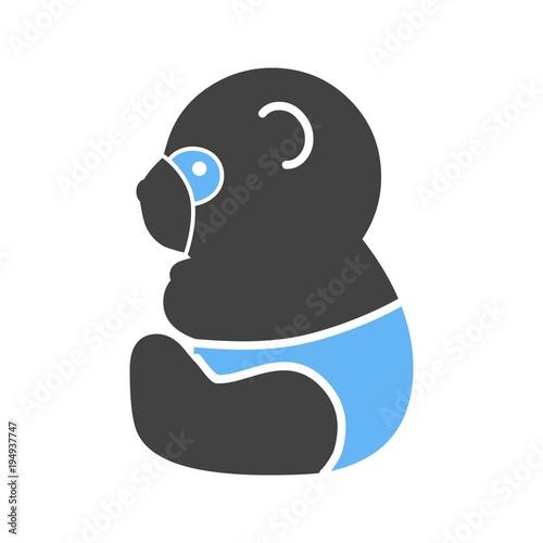 Fototapeta Panda, snow, bamboo