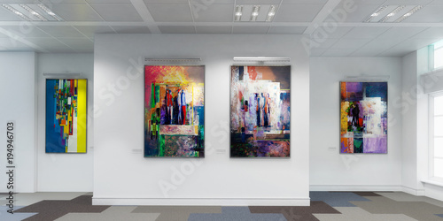 canvas print picture Gemäldegalerie (panoramisch)