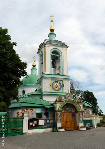 Tuinposter Moskou The Church of the Life-Giving Trinity on the Sparrow Hills in Moscow.