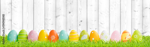 Poster Gras Easter background concept.