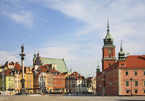 Castle square in Warsaw. Poland