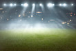 Quadro Soccer field with blur spotlight