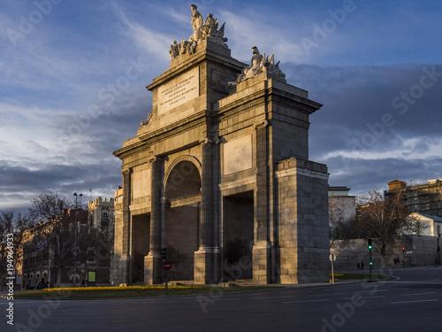 Foto op Canvas Madrid Toledo gate in Madrid (Spain)