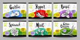 Set of hand drawn food labels, spices labels, fruit labels, vegetable labels - 194968731