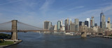 Brooklyn Bridge and New York city in the background - 194972528