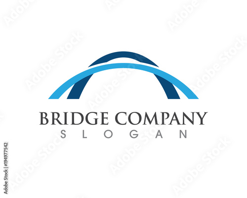 Fototapeta Bridge icon vector illustration Logo