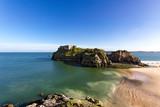 Schöne Landschaftsaufnahme am englischen Strand von Tenby.