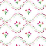 vector illustration seamless pattern tulips
