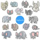 cartoon elephants animal characters collection