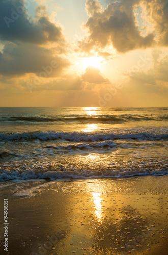 Aluminium Zee zonsondergang Sunset over sea
