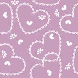 vector seamless vintage heart pattern