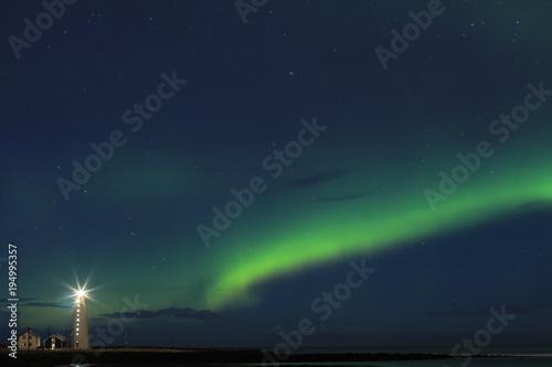 Plexiglas Noorderlicht Northern lights(aurora) in Iceland.