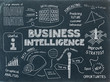 BUSINESS INTELLIGENCE Sketch Notes on Blackboard