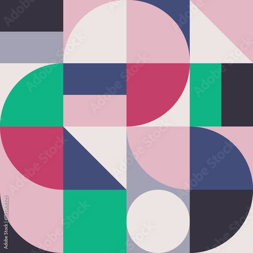 Abstract Geometry Pattern Graphic 01 - 195008325
