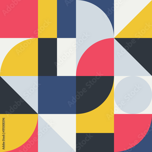 Abstract Geometry Pattern Graphic 06 - 195008396