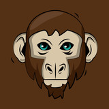 Monkey cartoon print for t shirt vector illustration clothing design