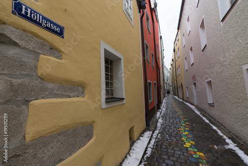 Fotobehang Smalle straatjes way2