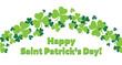 Happy Saint Patricks Day Shamrocks