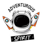 Astronaut adventure spirit printe for tshirt vector clothing design - 195022337