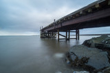 Old abandoned pier in Iceland