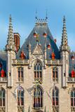 Front view of The Provinciaal Hof building in Bruges, Belgium - 195024976