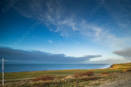 Fotobehang Blauwe jeans Coastline at Iceland