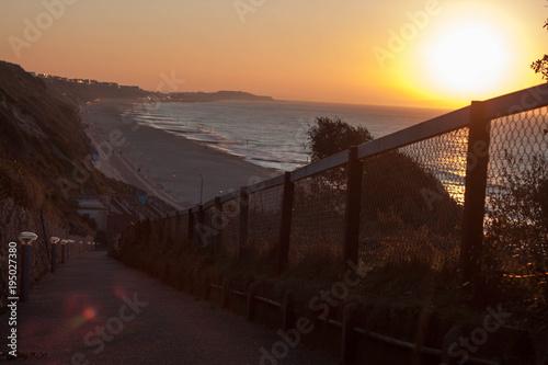 Fotobehang Zalm Sunset at sea