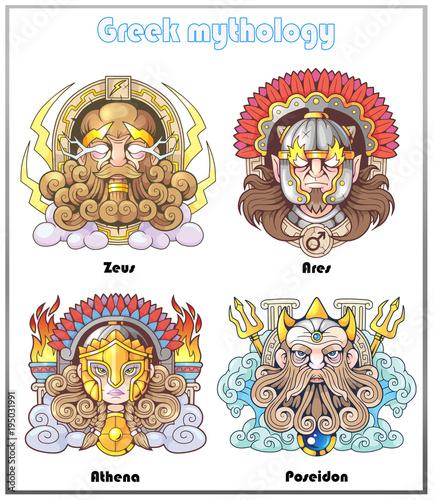 greek mythology set of images