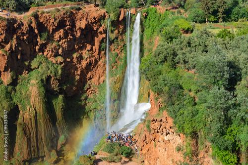Staande foto Marokko Ouzoud waterfalls, Grand Atlas in Morocco