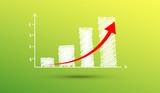 grafico economia, istogrammi, statistiche - 195042579