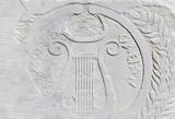 greek ornaments on marble - 195056753